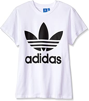 Amazon.com: Adidas Originals playera Trefoil Tee para mujer ...