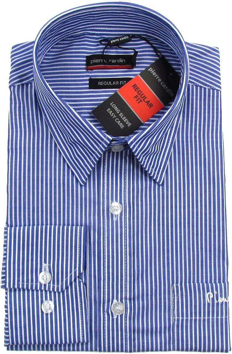 Pierre Cardin - Camisa formal - Rayas - Manga Larga - para hombre azul Small: Amazon.es: Ropa y accesorios