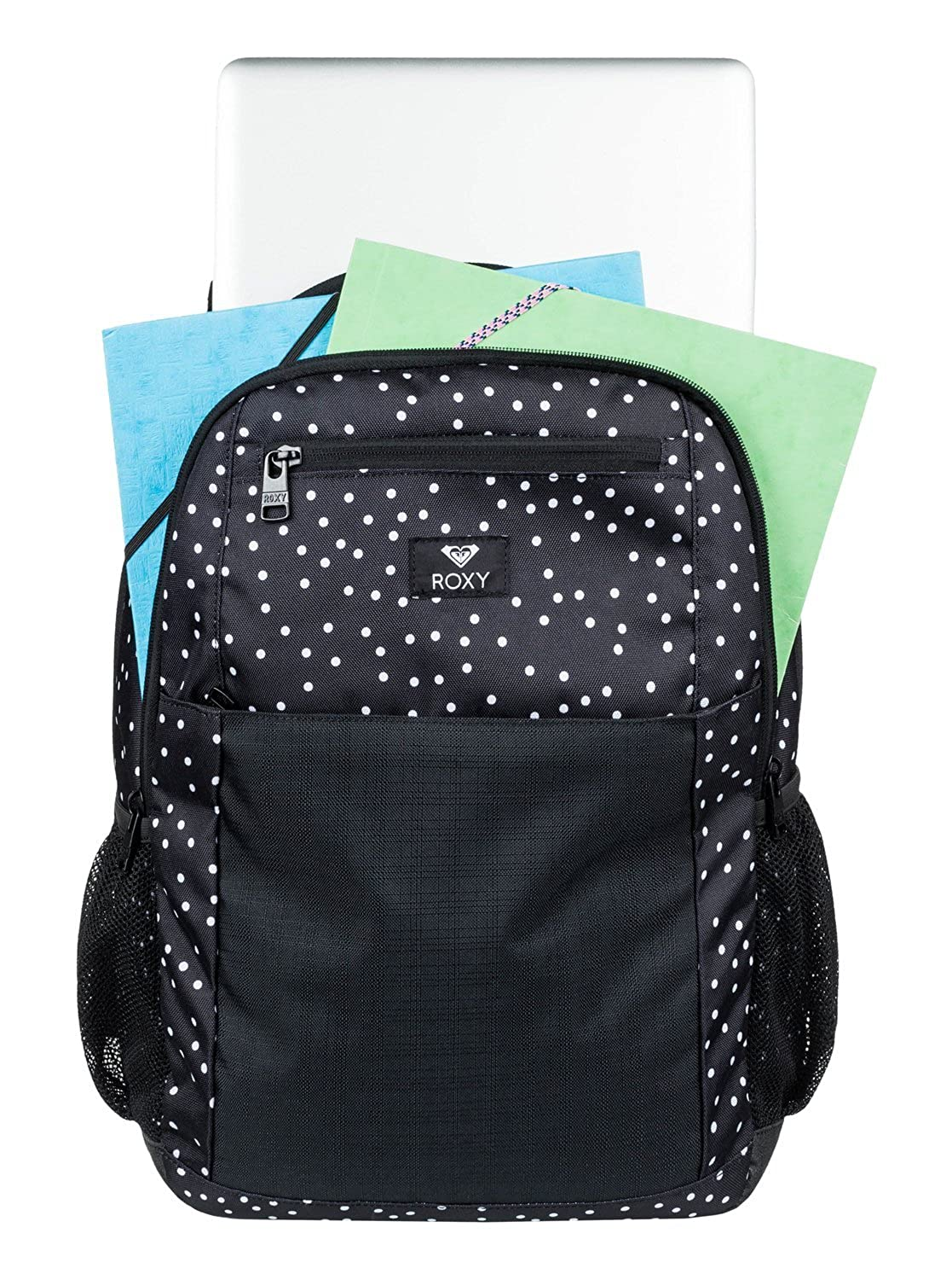 Roxy Here You Are Mix Mochila Mediana, Mujer, Gris/Negro (True Black Dots for Days), 23.5 l: Amazon.es: Deportes y aire libre