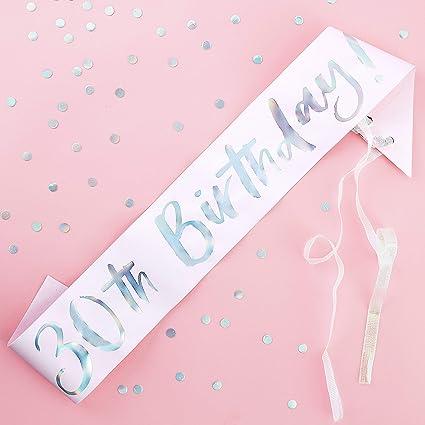Amazon.com: Ginger Ray – Cinta de 30 cumpleaños – gama de ...