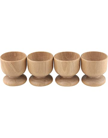 Apollo Housewares - Juego de hueveras (madera de haya, 24 x 5,5