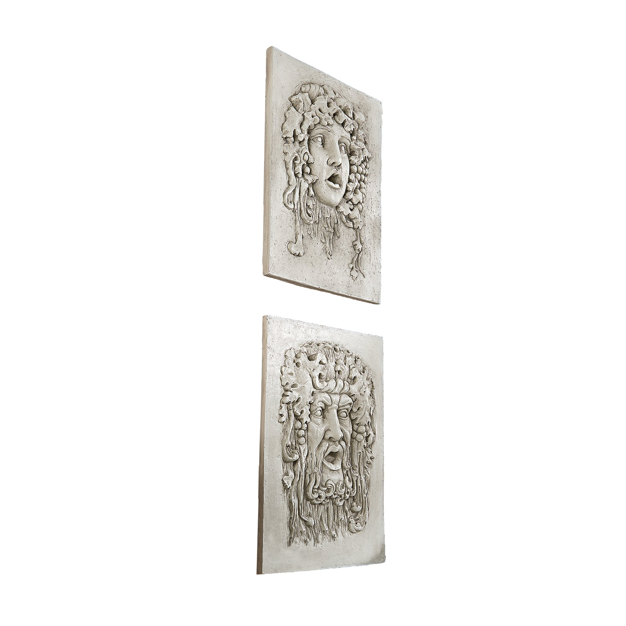 Design Toscano and Vappa Gods of The Grapes Italian Style Wall Sculptures, Medium