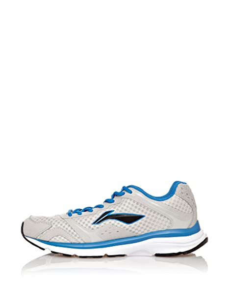Li-Ning Zapatillas Running Tracer Gris/Azul EU 42 (US 8.5): Amazon ...
