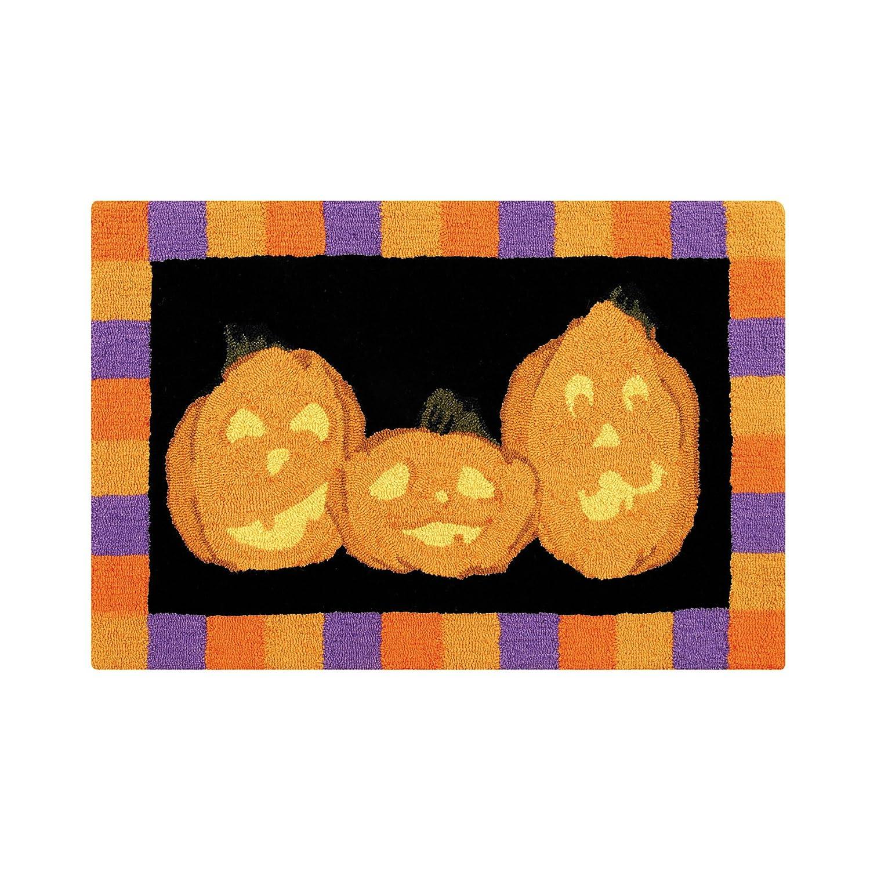 C&F Home Hooked Halloween Haunts Rug, Black