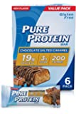 Pure Protein Bars, High Protein, Nutritious Snacks to Support Energy, Low Sugar, Gluten Free, Chocolate Salted Caramel…
