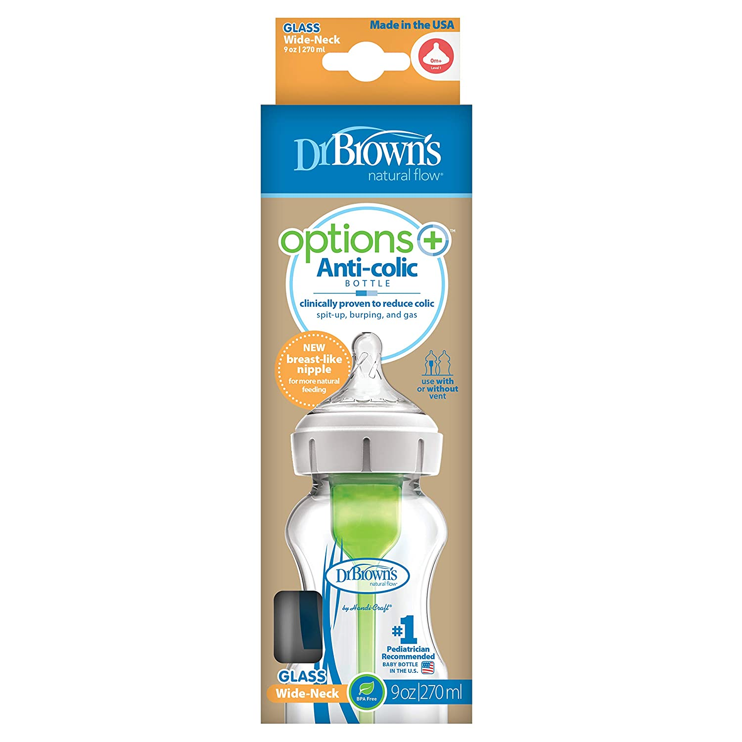Dr Browns Options 270ml Glass Bottle