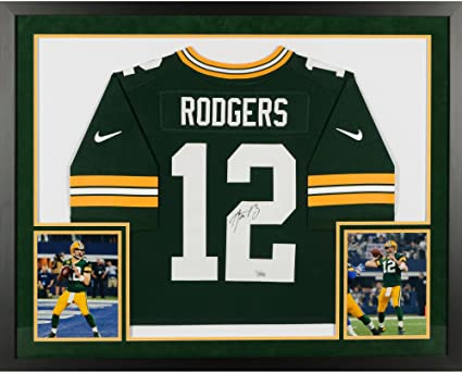 Aaron Rodgers Green Bay Packers SM Deluxe Framed Autographed Nike Green  Elite Jersey - Fanatics Authentic a53d7a241