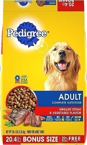 PEDIGREE Adult Complete Nutrition Grilled Steak Vegetable Flavor Dry Dog Food 20.4 Pound