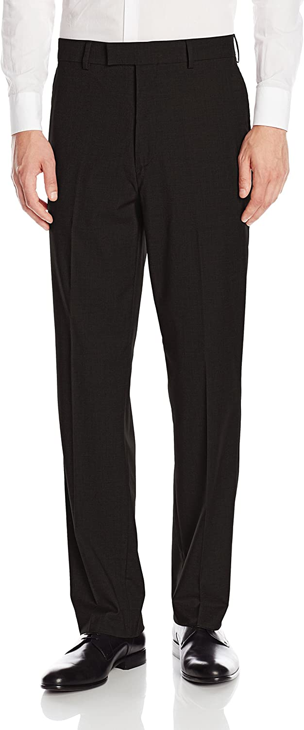 Savane Mens Flat Front Premium Flex Gabardine Dress Pants
