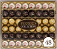 Ferrero Rocher Collection, Fine Hazelnut Milk Chocolates, 48 Count Gift Box, Assorted Coconut Candy and Chocolates, Perfect Mother's Day Gift for Mom