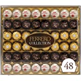 Ferrero Rocher Collection, Fine Hazelnut Milk Chocolates, 48 Count Gift Box, Assorted Coconut Candy and Chocolates, Perfect M