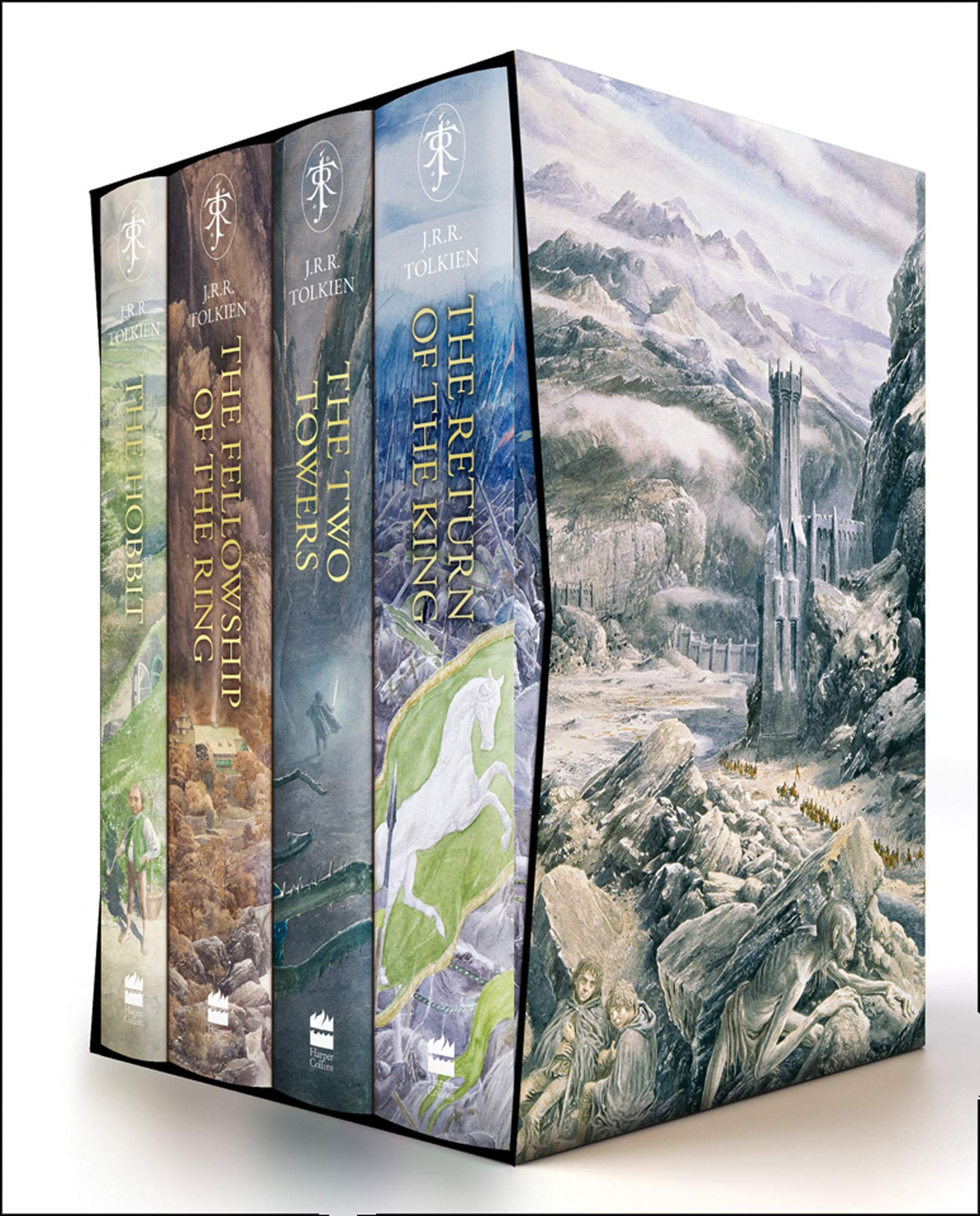 The Hobbit The Lord Of The Rings Boxed Set Tolkien J R R Lee Alan 9780008376109 Books Amazon Ca