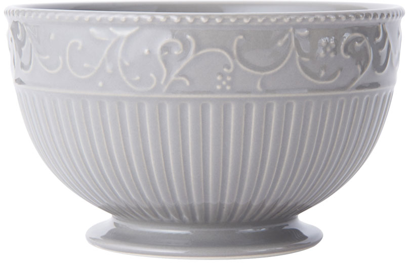Italian Countryside Accents Scroll Grey Cereal Bowl online at Mikasa.com
