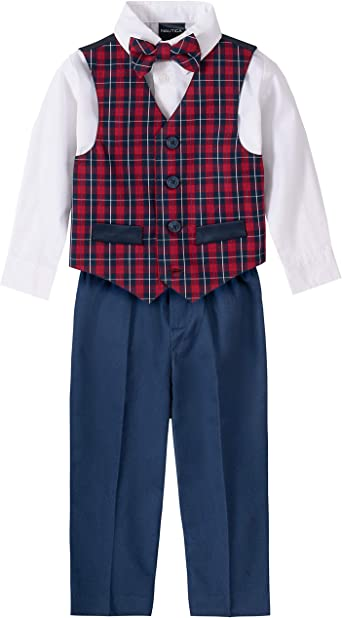 Pants Vests and Bow Ties Nautica Baby Boys 4-Piece Set with Dress Shirts