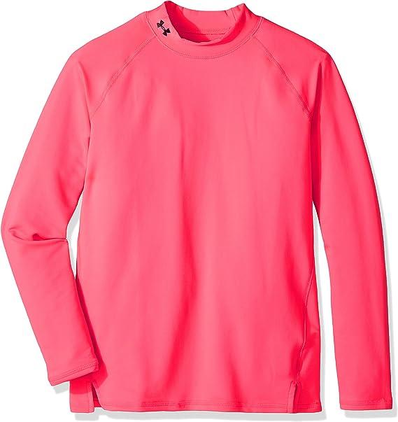 mostrador metodología Adición  Under Armour Girls' Cold Gear Mock Long Sleeve Shirt-Penta Pink,Small:  Amazon.co.uk: Clothing
