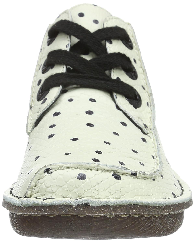Clarks Funny Dream Damen (Weiß/schwarz Derby Schnürhalbschuhe Weiß (Weiß/schwarz Damen Leder) ff0596