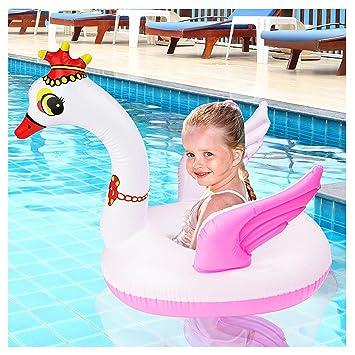 Bramble Flotador de Cisne Inflable pequeño - Estilo Cisne - Anillo Flotador Bebés Piscina Accesorio Divertido