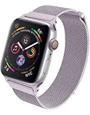 HILIMNY Compatible for Apple Watch Band 38mm 40mm 42mm 44mm, Stainless Steel Mesh Milanese Sport Wristband Loop with Adjustable Magnet Clasp for iWatch Series 1/2/3/4