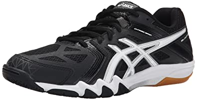ASICS Men's Gel-Court Control Volleyball Shoe, Black/White/Graphite, 6.5