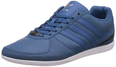 adidas Originals Men's Porsche 360 1.2 Suede Corblu and Ftwwht Leather Sneakers - 12 UK/