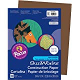 "Pacon PAC6803 SunWorks Construction Paper, 9"" x 12"", Dark Brown, 50 Sheets"