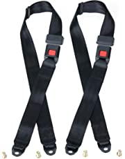 Universal Lap Seat Belt, 2 Point Adjustable Harness Kit for Go Kart, UTV, 94df04b1e67