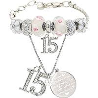 15th Birthday Gifts for Girl, 15th Birthday, 15 Year Old Birthday, 15th Birthday Bracelet, 15th Birthday Necklace, 15…
