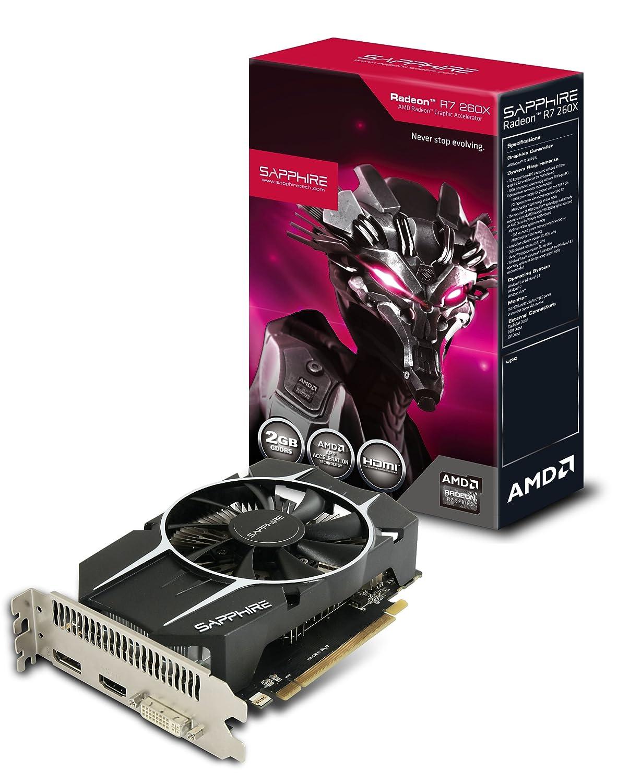 Sapphire Radeon R7 260X 2GB GDDR5 HDMI/DVI-I/DP OC Version PCI-Express  Graphics Card 11222-06-20G