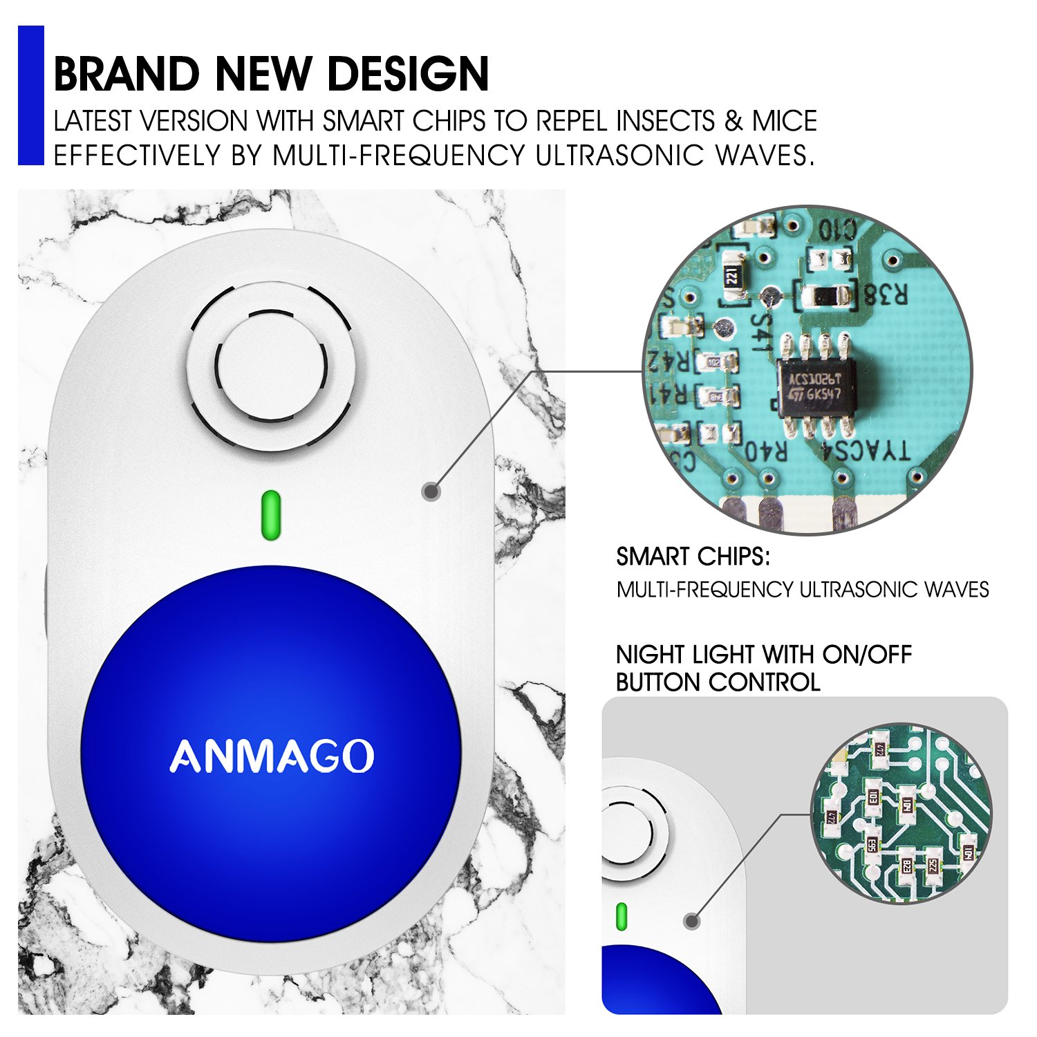 2018 Upgradedultrasonic Pest Control Repeller Simple Electronic Mosquito Repellent Circuit Diagram In Mouse Plug For Rodents Insects Rat