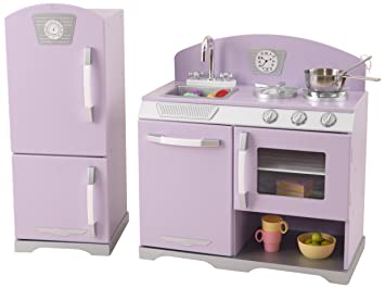 Delighful Kidkraft Retro Kitchen Lavender Refrigerator T For Inspiration Decorating