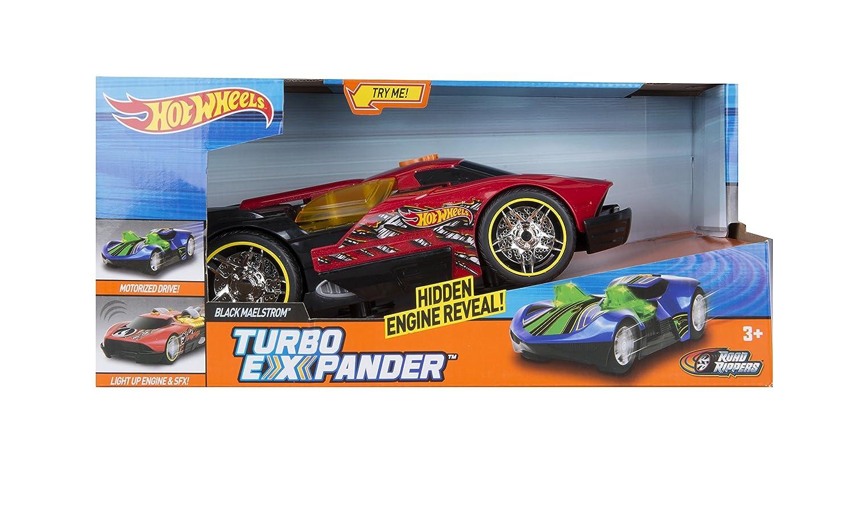 Hot Wheels coche con luz y sonido según avanza se expande y enseña los motores Black Maelstrom: Amazon.es: Juguetes y juegos