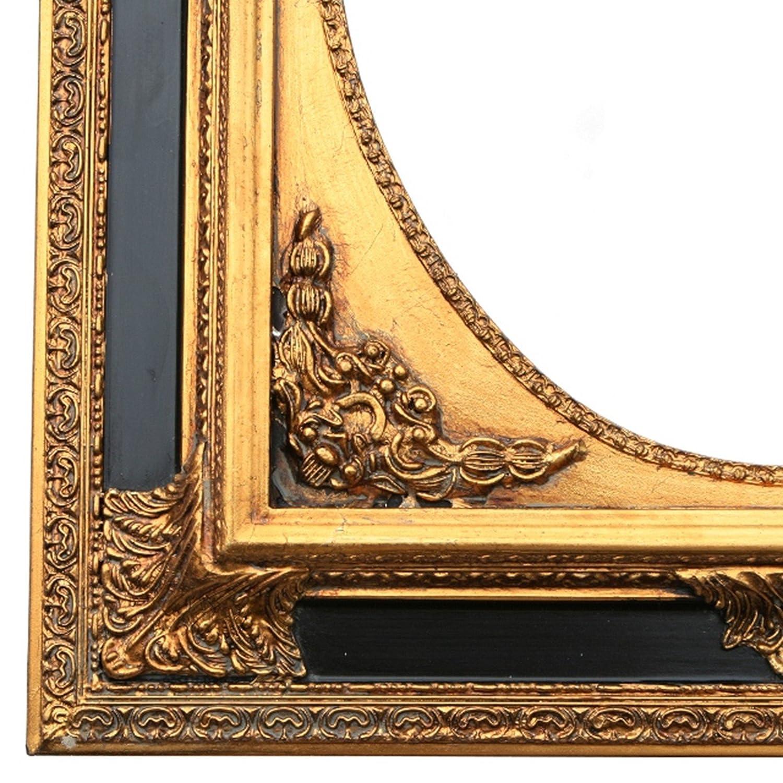 Amazon.de: Barock Kunst Wandspiegel oval verzierter Rahmen 50x60 ...