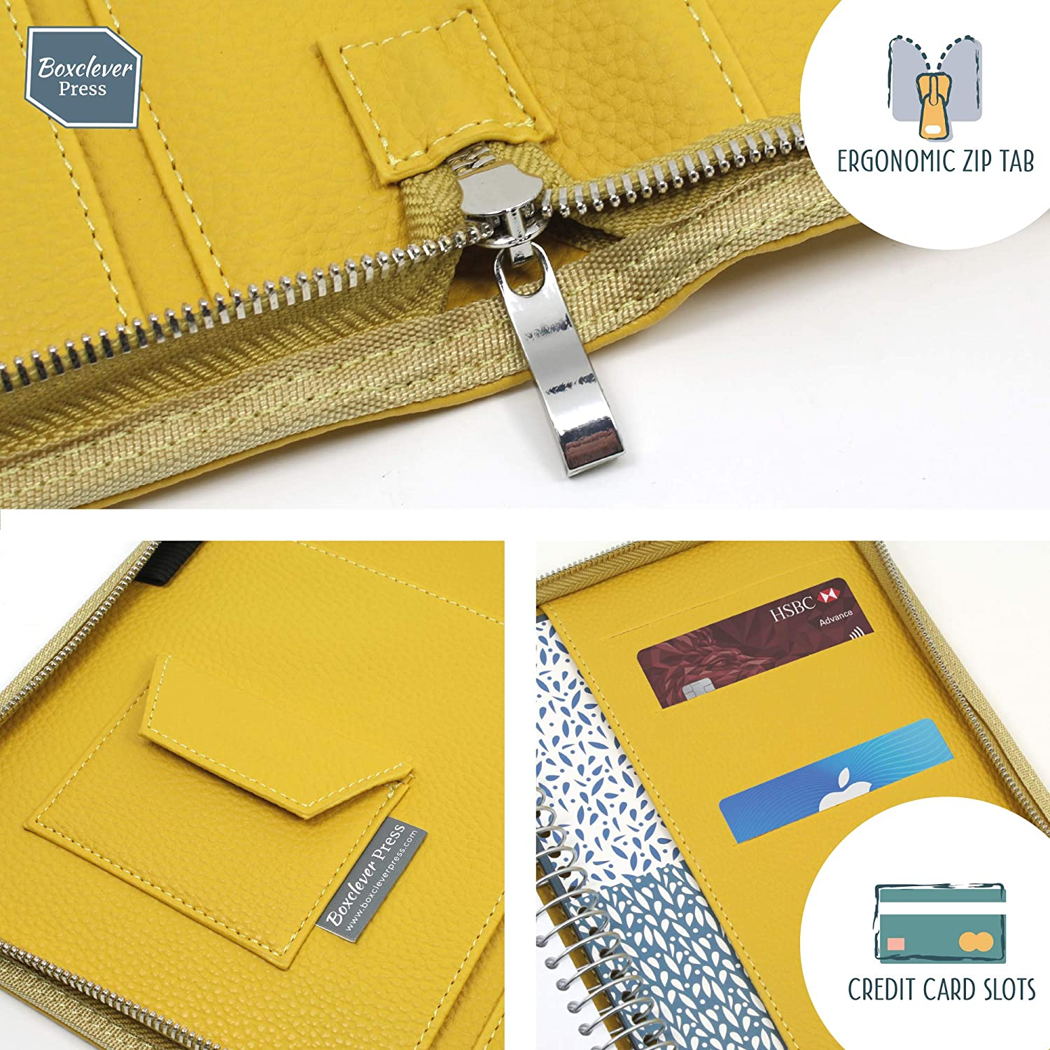 Academic A5 Week-to-View Diary Organiser with Large Spaces Storm Blue Starts mid-August 2019 Until December 2020. Boxclever Press 2019 2020 Life Book Diary in a Faux Leather Cover