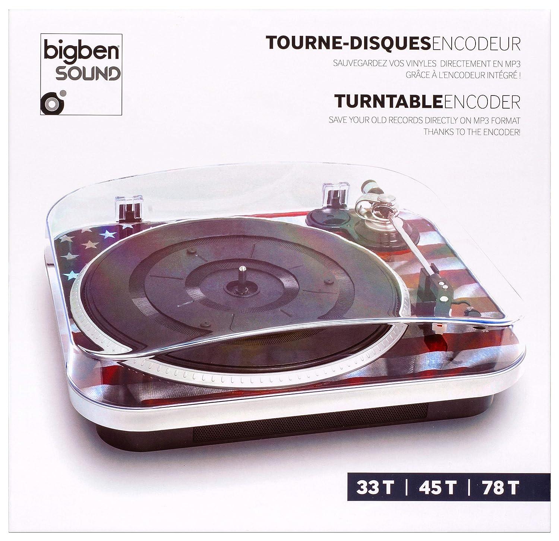Bigben Interactive TD120 - Tocadiscos, diseño USA: Amazon.es ...
