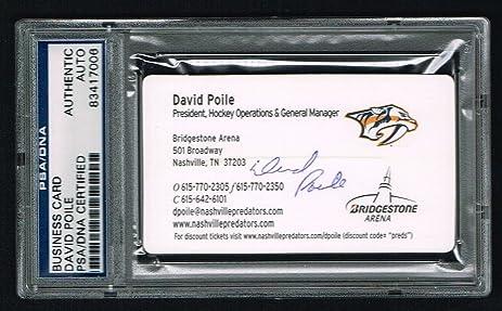 David poile signed autograph business card nashville predators gm david poile signed autograph business card nashville predators gm psa slabbed colourmoves