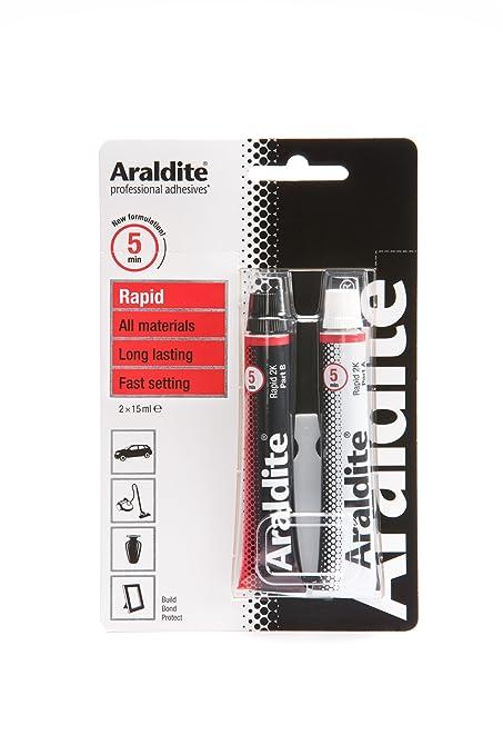 2 opinioni per Araldite ARA-400005 Tubo Epoxy rapido, 2 x 15 ml