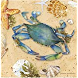Thirstystone Occasions Coaster, Blue Crab-II, Multicolor