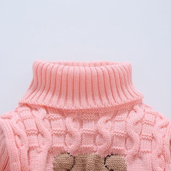 TUTUYU Kid Boys Girls Childrenr Beer Knit Turtleneck Sweater