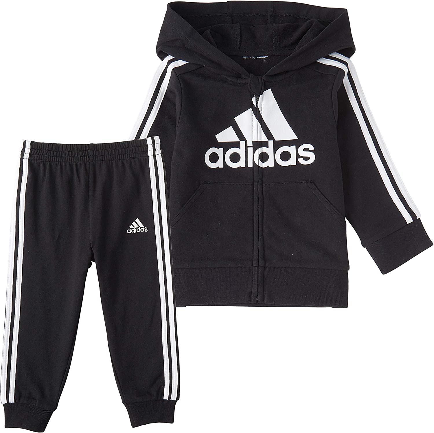 adidas Boys Zip Hoodie and Pant Set