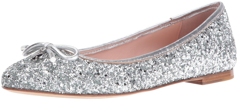 8a15b26163 Amazon.com: Kate Spade New York Women's Willa Ballet Flat Silver 6 M US:  Shoes