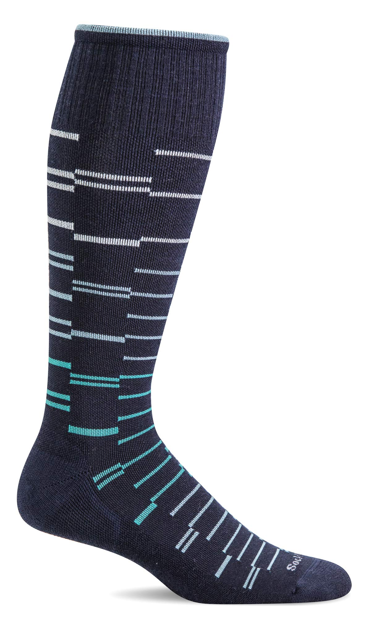 Sockwell Men's Dashing Moderate Graduated Compression Sock, Navy - M/L by Sockwell