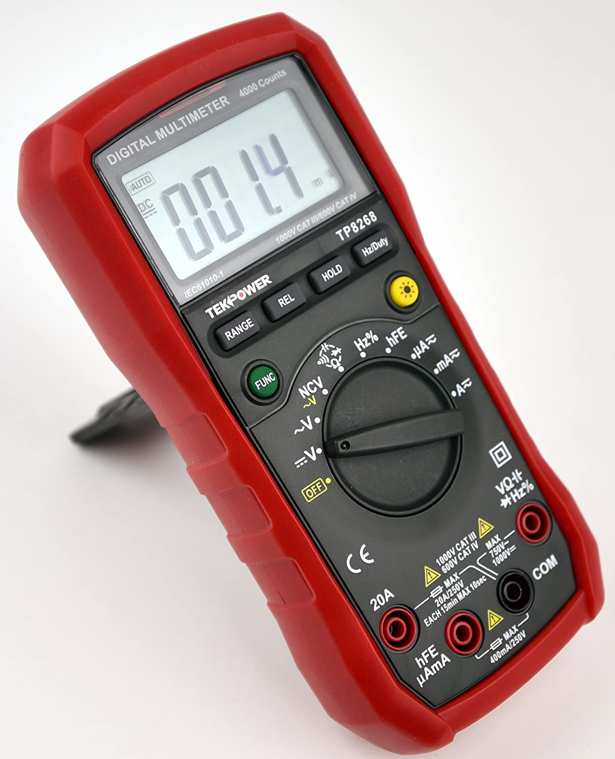 Tekpower TP8268 AC/DC Auto/Manual Range Digital Multimeter with NCV Feature, Mastech MS8268 Upgraded, MS88
