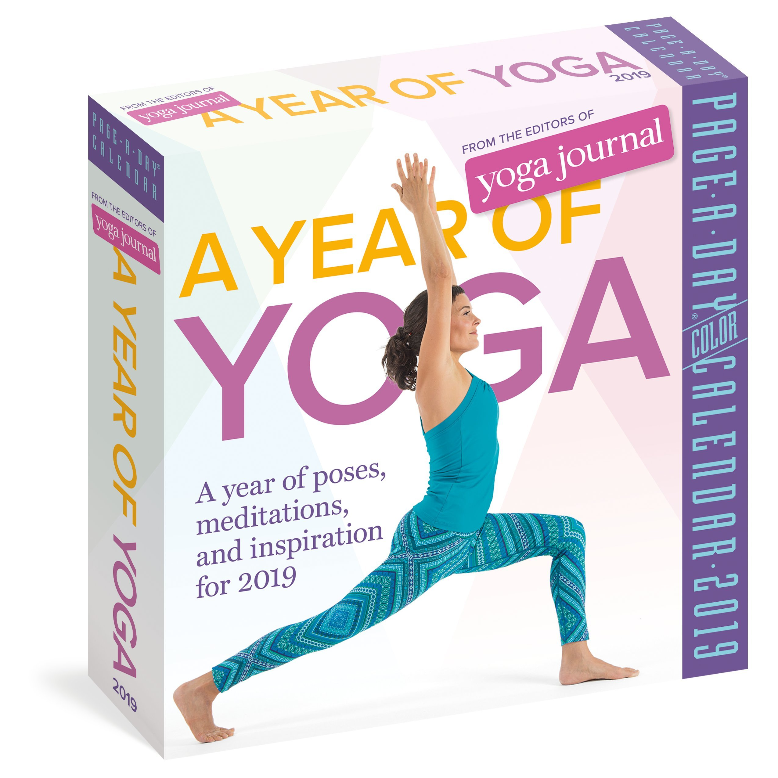 2019 a Year of Yoga Colour Page-A-Day Calendar: Amazon.es ...