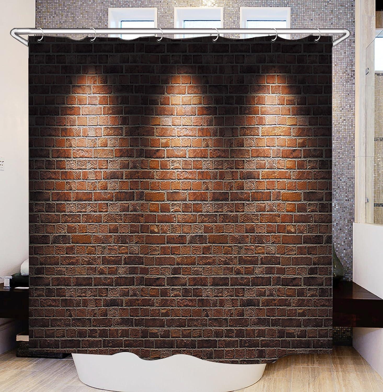de 180 x 180 cm impermeable y resistente al moho de poli/éster Cortina de ducha de Furnily 180 x 180 cm con imagen 3D dise/ño navide/ño de Pap/á Noel color 12