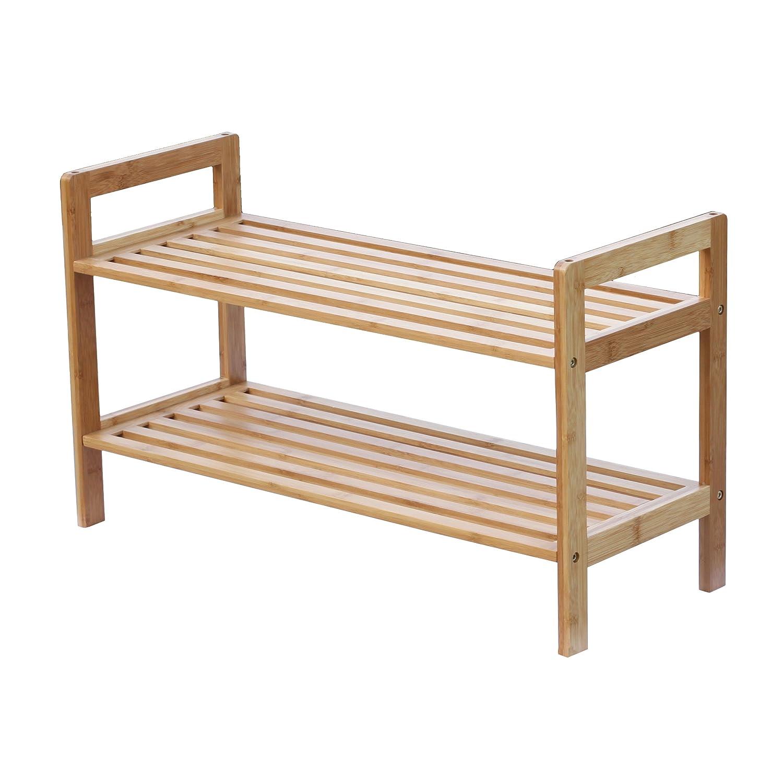 bamboo shoe rack Amazon.com: Oceanstar 2 Tier Bamboo Stackable Shoe Rack: Home  bamboo shoe rack