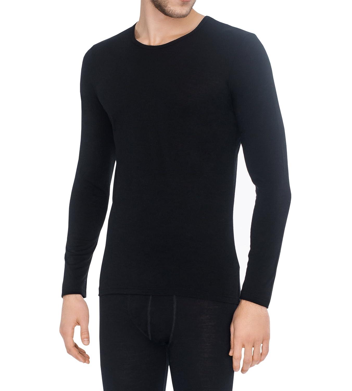 ABOUT 100% TEC Merino wolle Exklusive Qualitä t Herren Langarm-Shirt Langarm