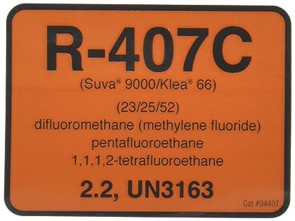 Diversitech R-407C Color Coded Refrigerant ID Label (04407)