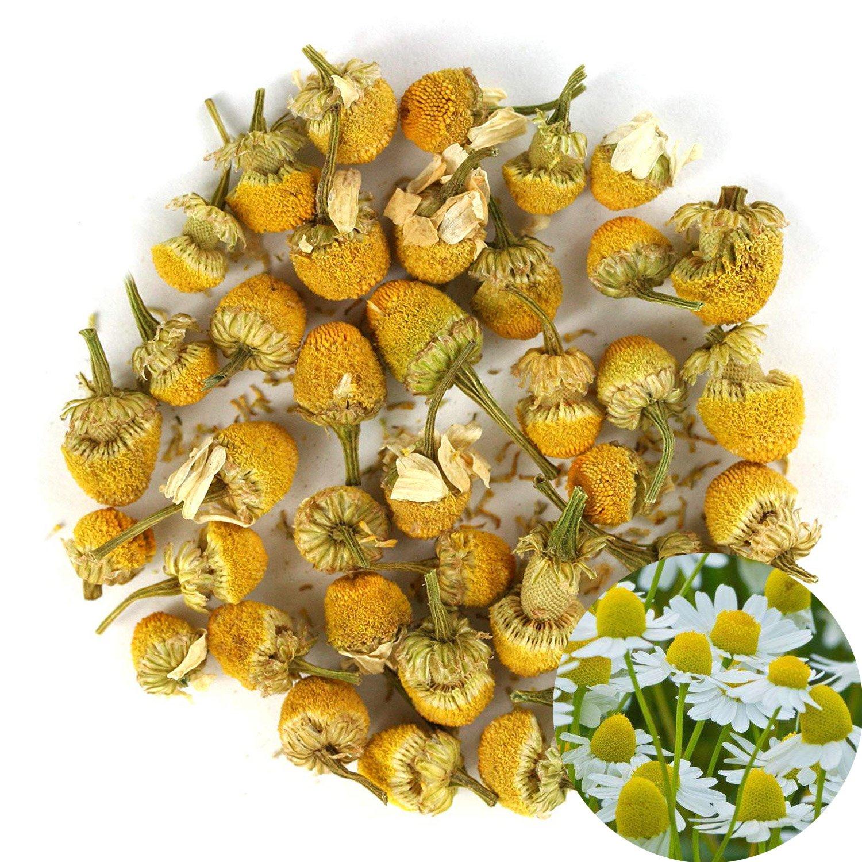 TooGet Pure Chamomile Flowers Tea, Natrual Camomile Flowers Dried Herbal Tea, Caffeine Free, Premium Grade - 4 OZ