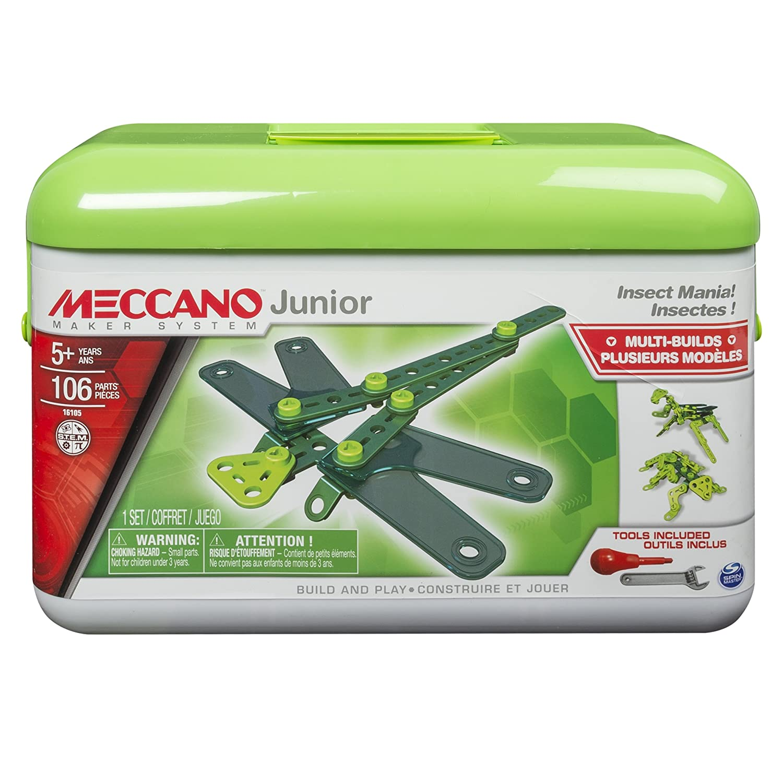 Meccano Junior Toolbox Insetto Mania Green Playset Spin Master 6027021