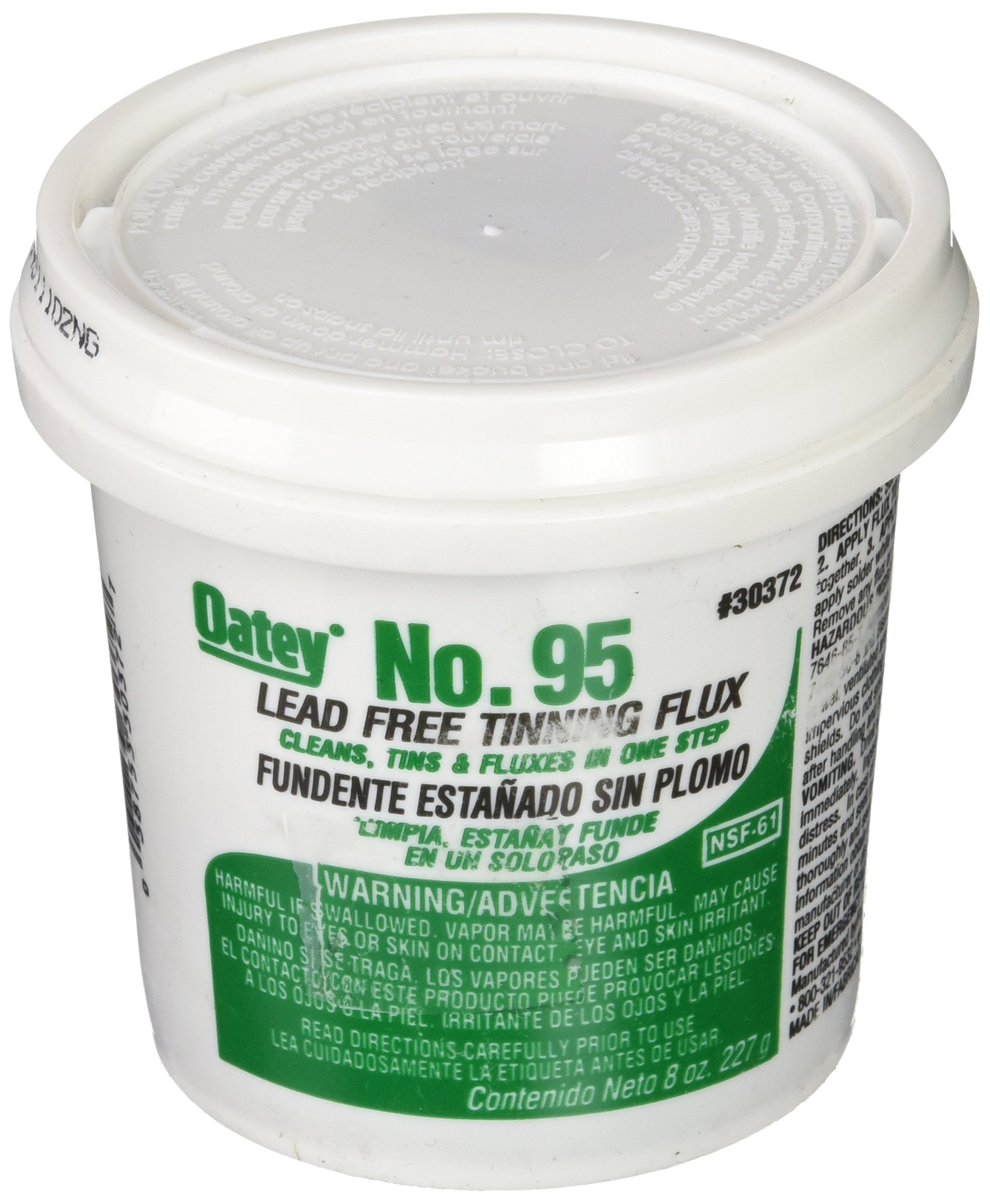 Oatey 30372 No. 95 Tinning Flux, Lead Free 8-Ounce product image